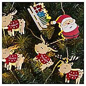 11 Santa And Reindeer Christmas Lights