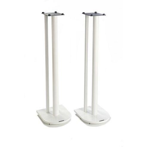 Nexus 10 Speaker Stands in White - Height 100cm