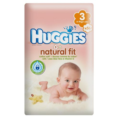 Huggies Natural Fit Size 3 Economy 56