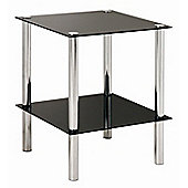 Urbane Designs Estland Side Table - Black Varnish / Chrome