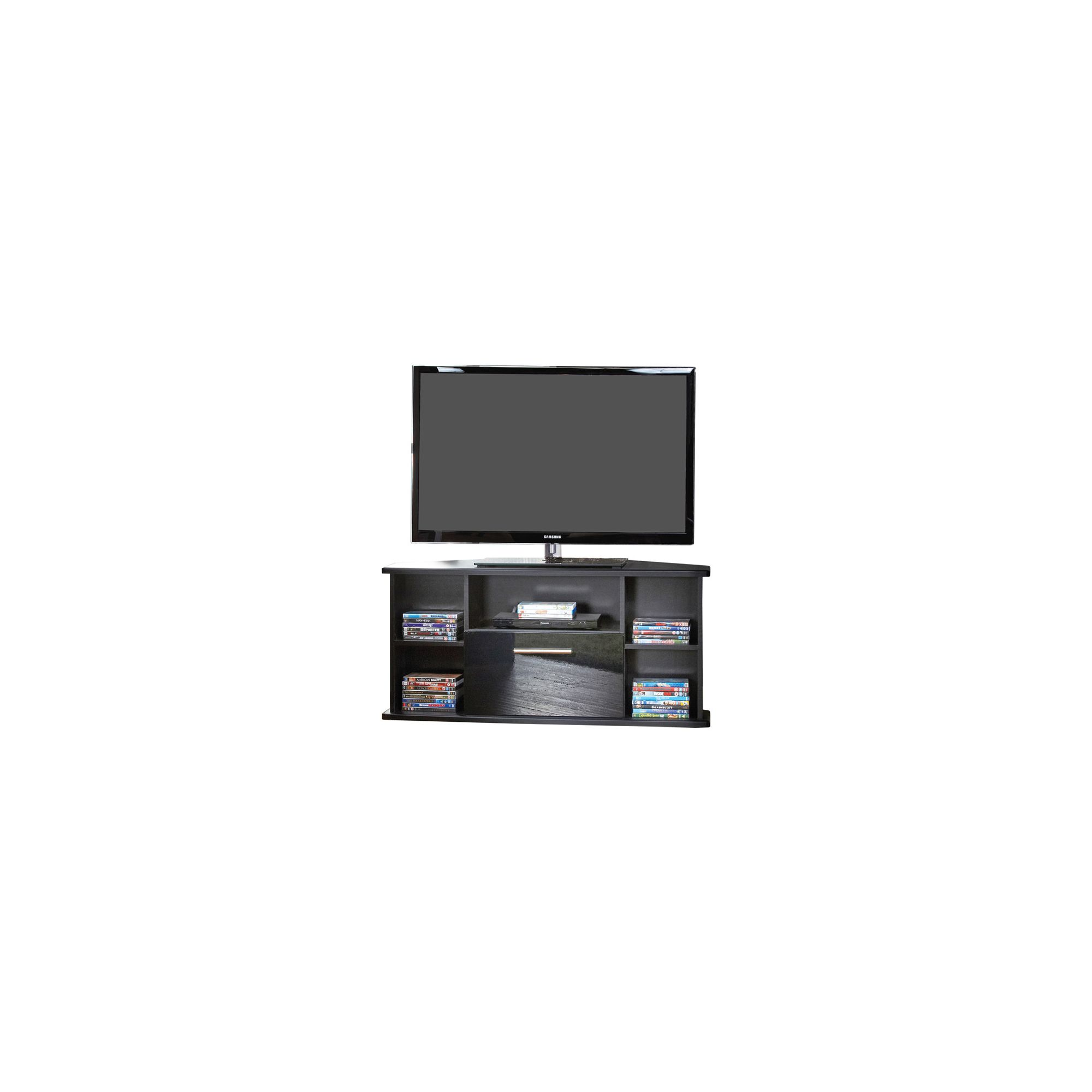 Welcome Furniture Living Room Corner TV Stand - Black Gloss at Tesco Direct