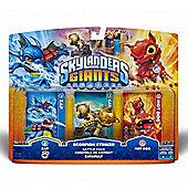 Skylanders Giants Battle Pack Scorpian Striker Zap, Catapult and Hot Dog