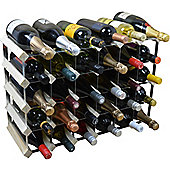Harbour Housewares 30 Bottle Wine Rack - Fully Assembled - Light Wood