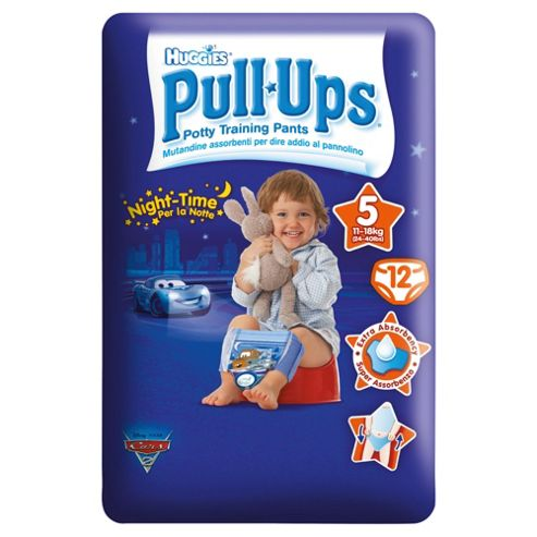 Huggies Pull Ups Size 5 Boy Night Time 12