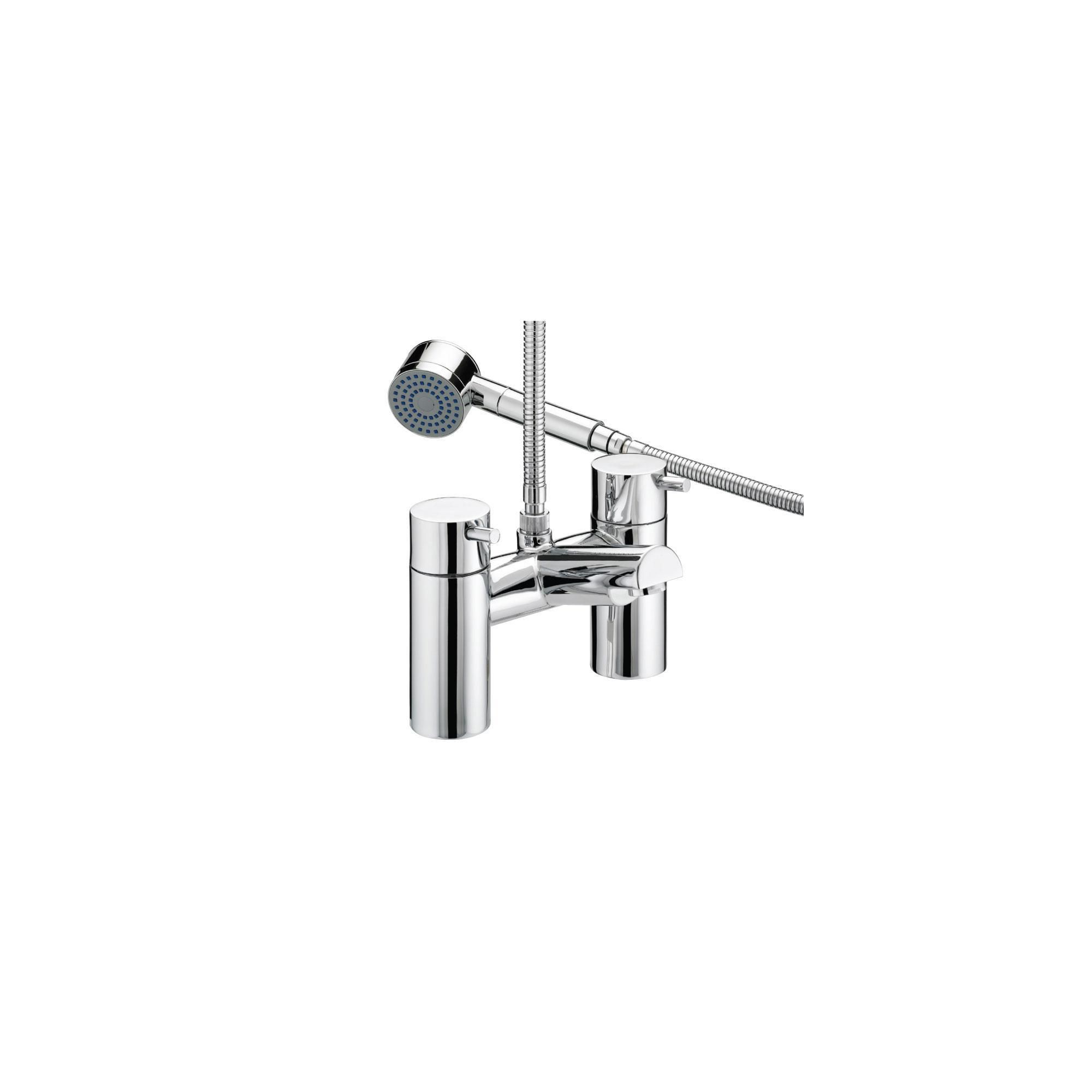 Bristan Prism Thermostatic Pillar Bath Shower Mixer Tap Chrome Plated at Tesco Direct