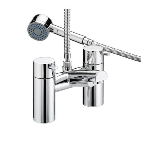 Bristan Prism Thermostatic Pillar Bath Shower Mixer Tap Chrome Plated