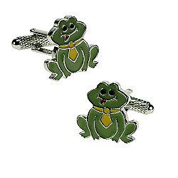 Green Frog Novelty Themed Cufflinks
