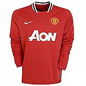 2011-12 Man Utd Home Long Sleeve Football Shirt - Red