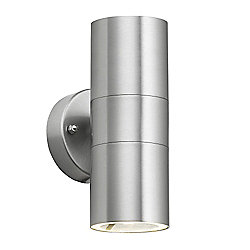 Gainsford IP44 Outdoor Up & Down Wall Light in Stainless Steel