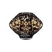 Linea Glass Leopard Style Urn Vase In Black