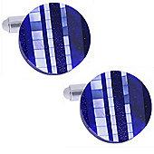 George - Rond Blue Semi-Precious Stone Cufflinks