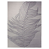 Esprit Feather Silver Novelty Rug - 140cm x 200cm
