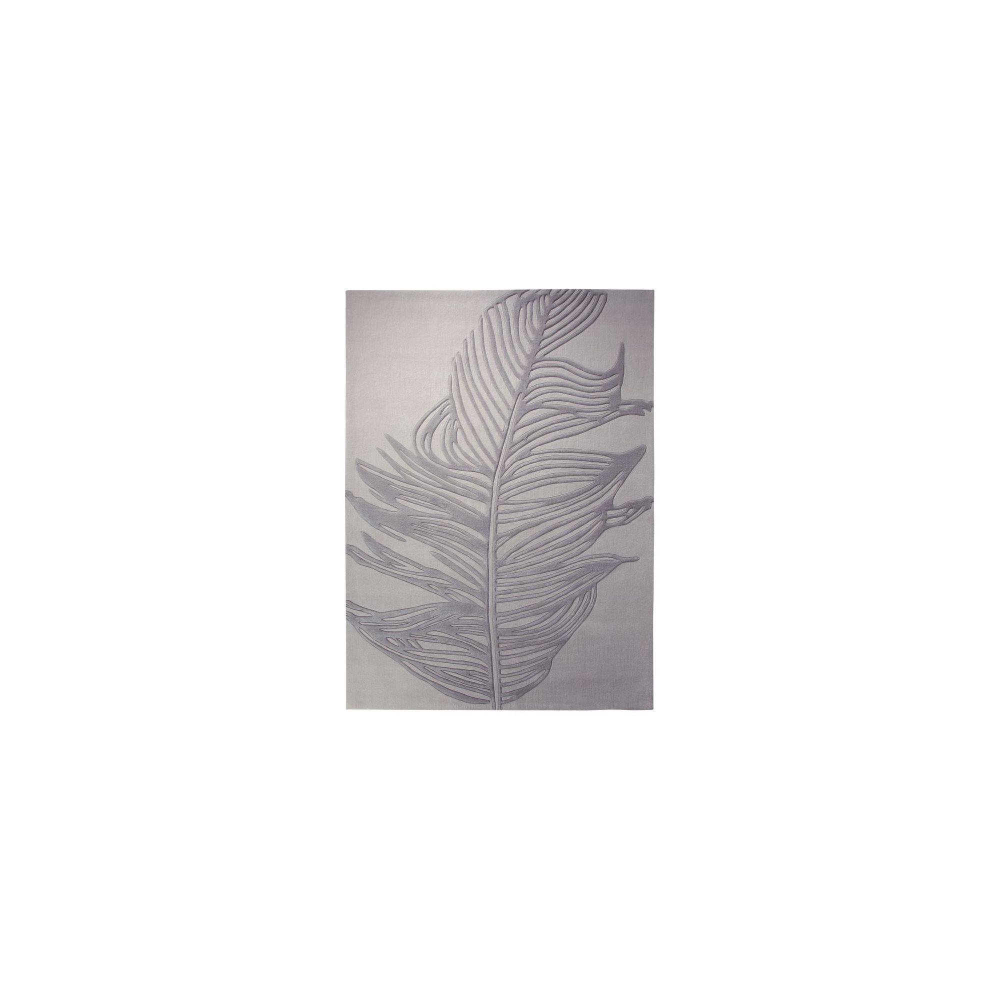 Esprit Feather Silver Novelty Rug - 140cm x 200cm