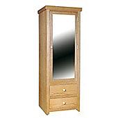 Home Essence Hamilton 1 Mirrored Door with 2 Drawer Wardrobe