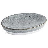 Tesco Reactive Glaze Grey  Soap Dish