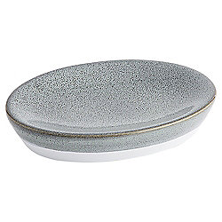 Tesco Reactive Glaze Grey  Soap Dish
