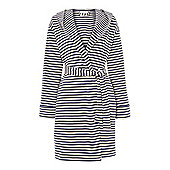 Linea Blue Striped Jersey Summer Robe M/LIn Blue