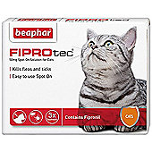 Beaphar Fiprotec Flea Treatment for Cats 3 Pipette