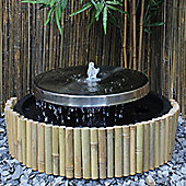 Stainless Steel Millstone Water Feature with LED's