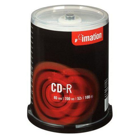 CD-R, 700MB, 52X, Spindle, 100 Pack