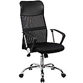Executive High Back Mesh Office Chair - Adjustable Padded Desk Swivel Chair