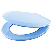 Tesco Basic Plastic Toilet Seat, Blue