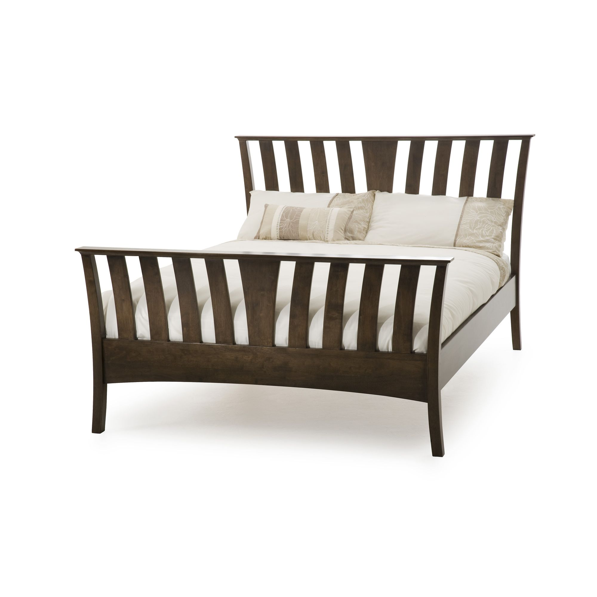 Serene Furnishings Ordelia Bed - Double - Walnut at Tesco Direct