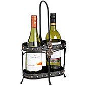 Tudor - Metal Wine Bottle Serving / Display Rack - Black