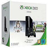 Xbox360 500GB Spring Value Bundle (includes Fable Anniversary and Plants Vs. Zombie Downloadable Game)