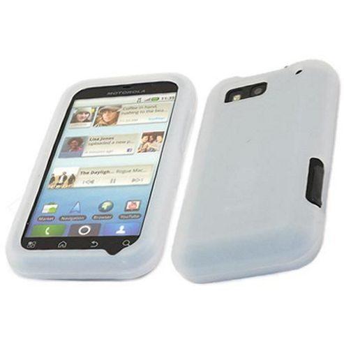 iTALKonline White Soft Silicone Case - For  Motorola Defy MB525