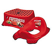 Disney CARS 2 Toddler Toilet Training Seat & Step Stool Combo (Lightning McQueen)