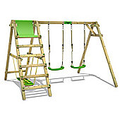 Wooden double swing FATMOOSE JollyJade Wave XXL