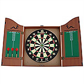 Woodworm Dart Board Set With Cabinet Inc 6 Darts