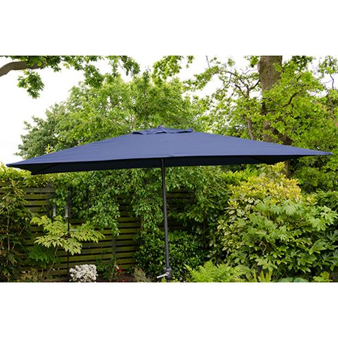 buy oxford 3m x2m rectangle garden parasol blue from our. Black Bedroom Furniture Sets. Home Design Ideas