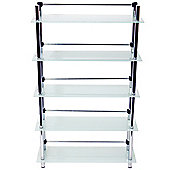 Splash - 5 Tier Bathroom Storage Shelves - Frosted