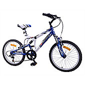 "Woodworm Kids Bxi Junior 20"" 6 Speed Shimano Dual Suspension Mountain Bike Blue"
