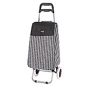 Sabichi 2 Wheel 40L Shopping Trolley, Penelope Houndstooth