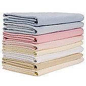 2 Pack Cot Flannelette Sheets (White) 100cm x 150cm