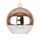 Large Daelim Domed Glass Ceiling Light Shade in Copper