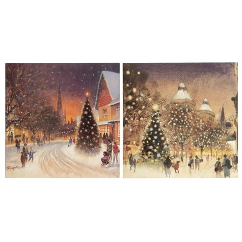 Tesco Warm Winter Scenes Christmas Cards, 12 Pack