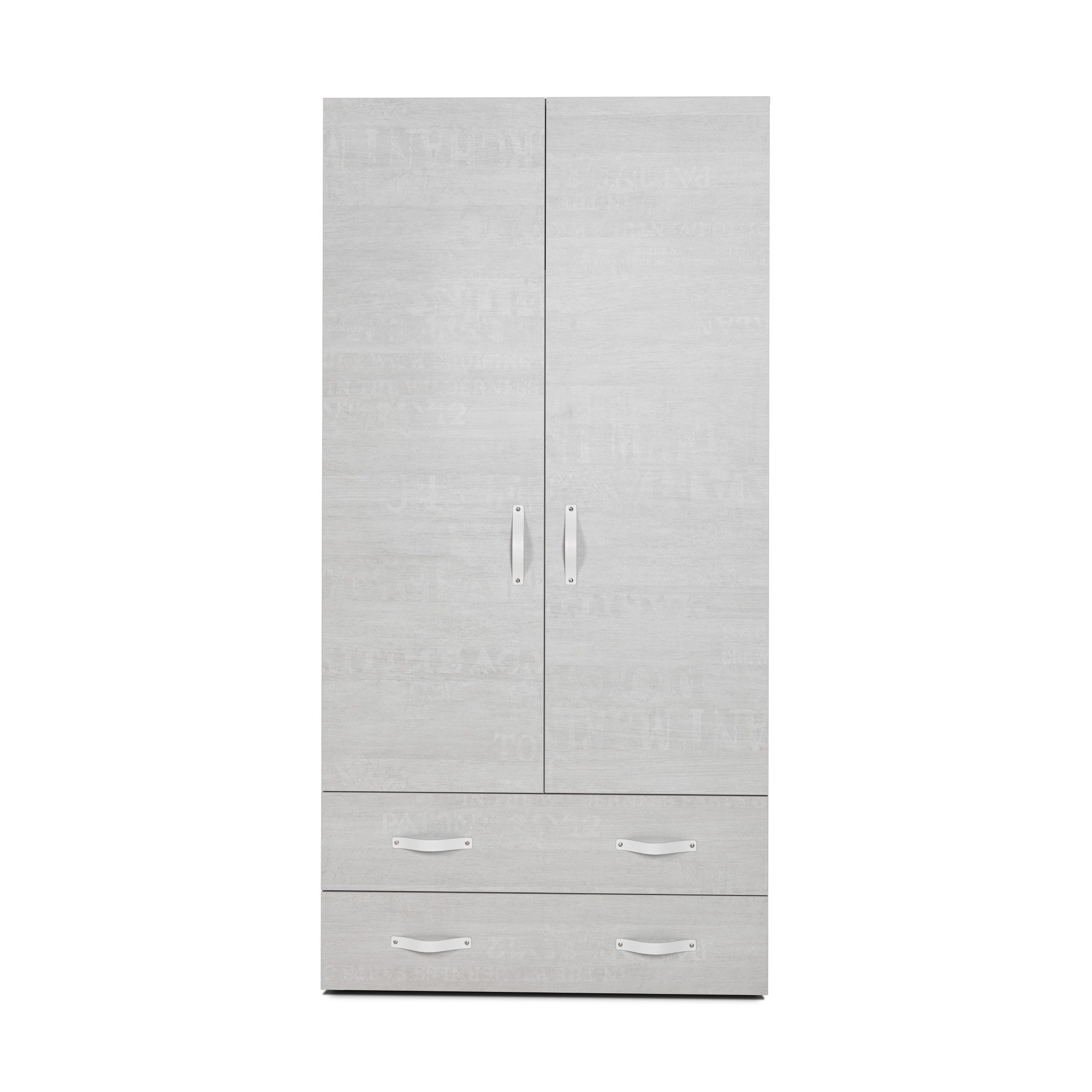 Didit Two-Drawer Wardrobe - Whisper Oak at Tesco Direct