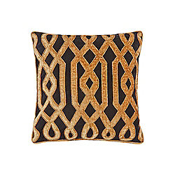 Biba Deco Beaded Cushion, Black