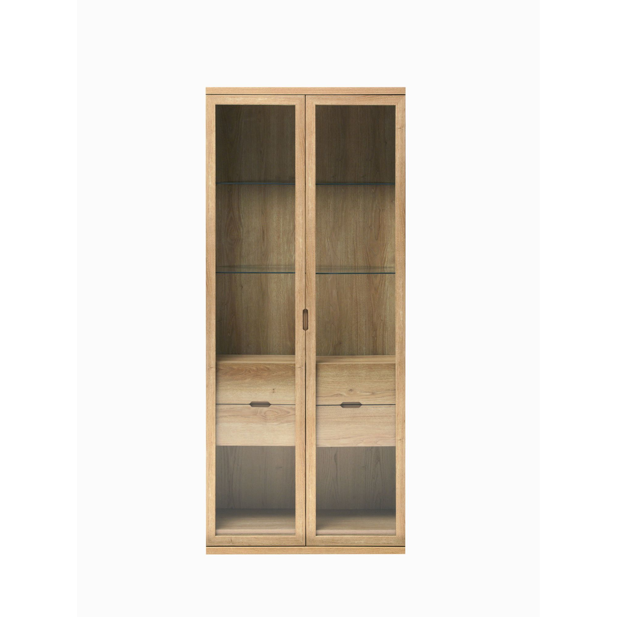 Caxton Darwin Tall Display Cabinet in Chestnut at Tesco Direct