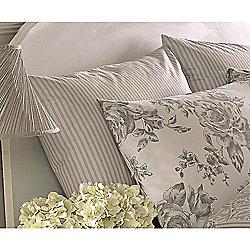 Dreams n Drapes Malton Slate Housewife Pillowcases - Pair