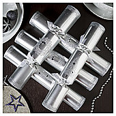 Silver Wreath and Tree Luxury Christmas Crackers, 6 pack