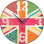 Smith & Taylor Union Jack Tutti Frutti Round Wall Clock