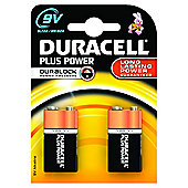 Duracell Plus Alkaline 9V Batteries 2 Pack