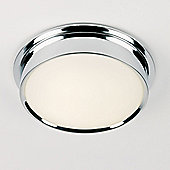 Endon Lighting Round Small Flush Mount in Polished Chrome