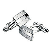 Fred Bennett Scratched and Polished Rectangle Cufflinks