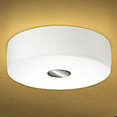 Leucos Bisquit Flush Ceiling Light in Glossy White - 40W Halogen E14